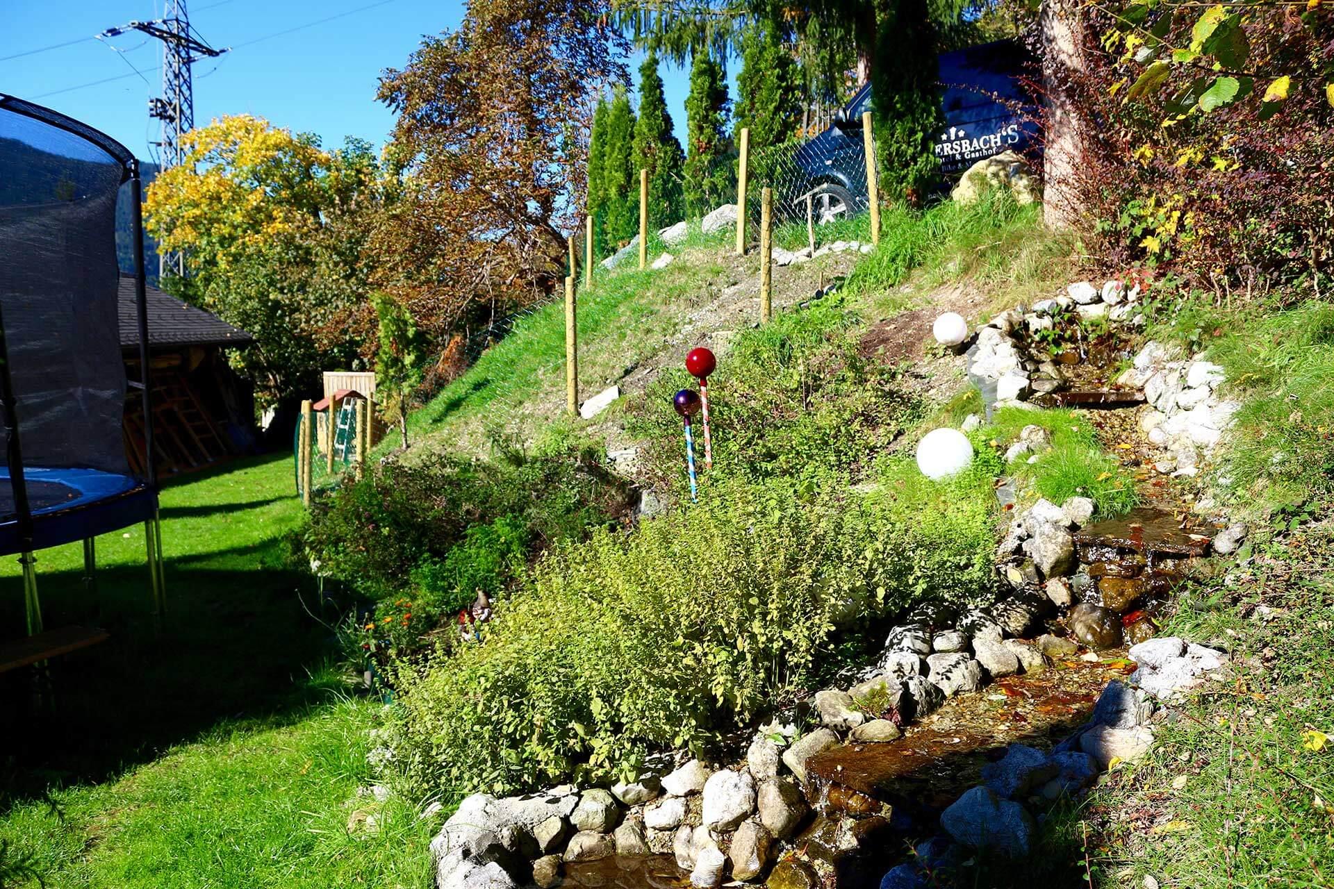 Unser Garten im Hotel Laudersbach
