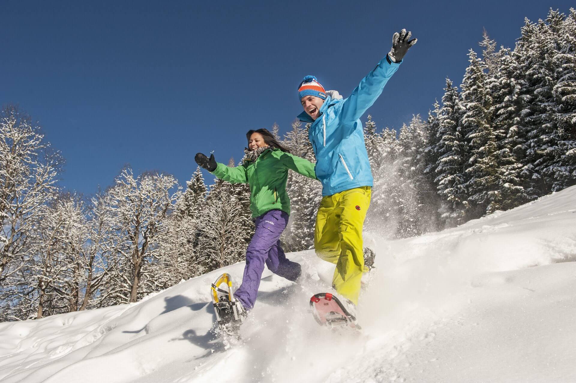 Schneeschuhwandern Winterromantik pur