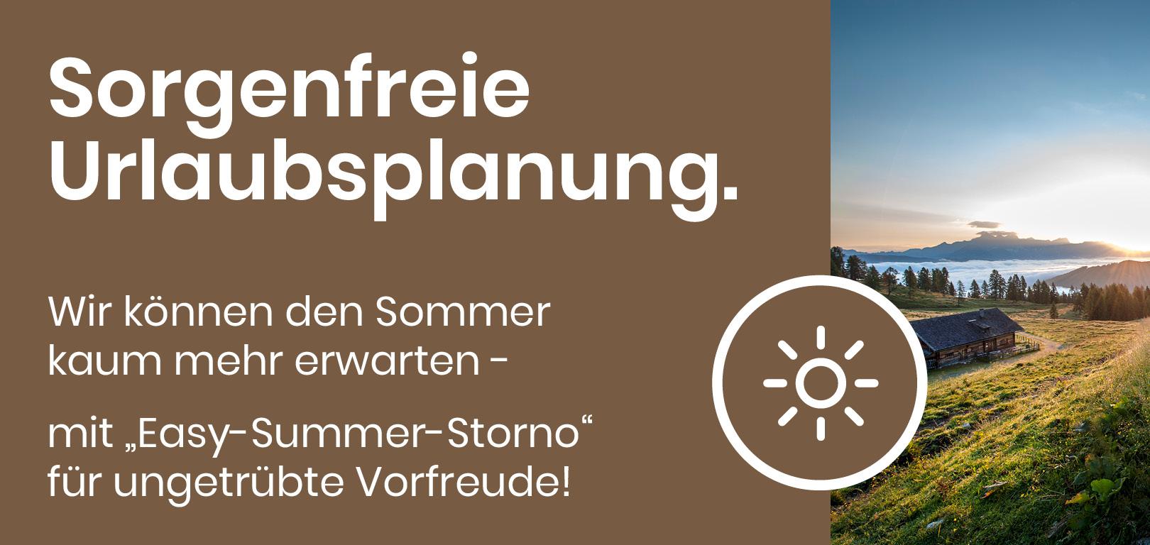 Rundum sorglos. Die Stornobedingungen für den Sommer.
